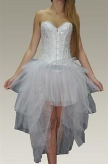 Фатиновая юбка с хвостом. Белая