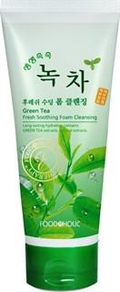 Зеленый чай. Очищающая пенка для умывания. FOODaHOLIC