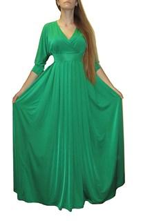 """Зеленое платье в пол """"летучая мышь"""""""