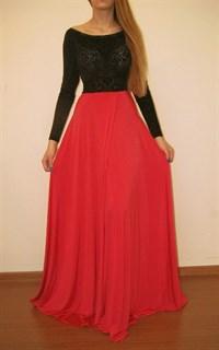 Платье Candy с рукавами и коралловой юбкой с запахом