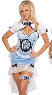 Голубой костюм готической принцессы