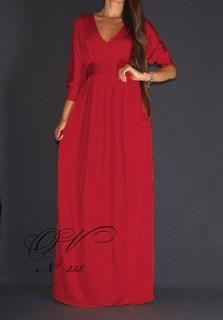"""Красное платье в пол """"летучая мышь"""". 258"""