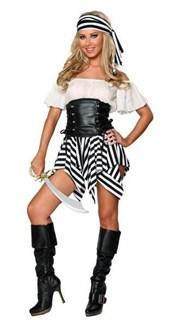 Пиратка с полосатой юбкой
