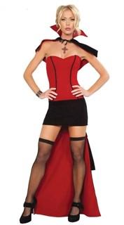 Карнавальный костюм вампира: велюровое платье со шлейфом
