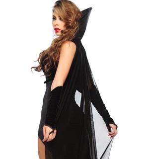 Шикарный костюм королевы ночи - платье и велюровое болеро - фото 5961