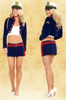 Костюм помощницы капитана: мини юбка и пиджак