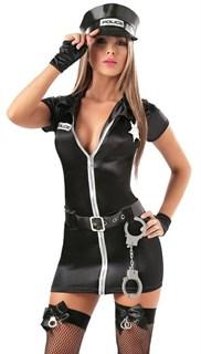 Платье на молнии для полицейской