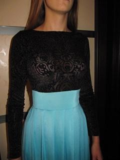 Красное платье в пол с черным бархатным верхом - фото 6448