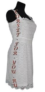 Белое летнее кружевное платье