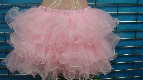 Светло-розовая пышная юбка фонарик