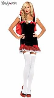 Маскарадный костюм красной шапочки - облегающее платье