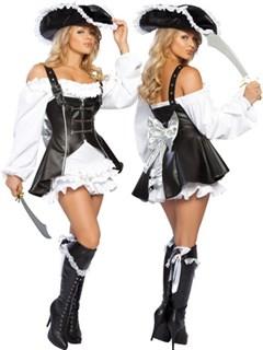 Маскарадный костюм пиратки с шикарным камзолом