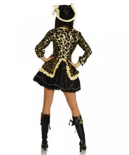 Карнавальный костюм пиратки с зеленым камзолом. Царица морей - фото 7014