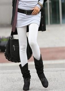 Джеггинсы белые. Леггенсы под джинсу