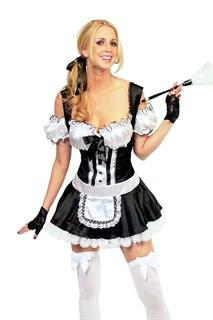 Эротический костюм горничной с пуговками