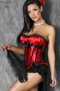 Красный корсет Burlesque с мягким лифом - фото 7274
