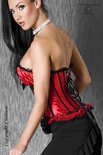 Красный корсет Burlesque с мягким лифом - фото 7275