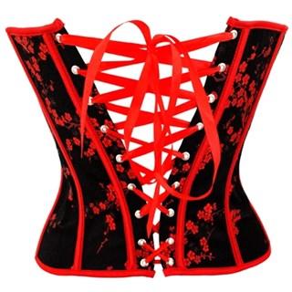 Черный с мелкими красными цветочками - фото 8098