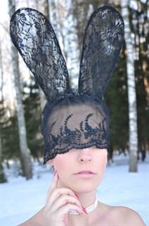 Кружевные ушки длинные с маской - фото 8169