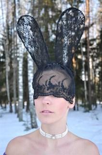 Кружевные ушки длинные с маской - фото 8171