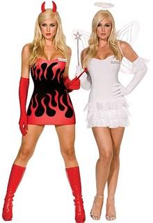 Двойной костюм ангел-дьявол