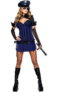 Синий костюм полицейской с болеро