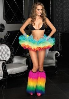 Разноцветная короткая юбка-пачка