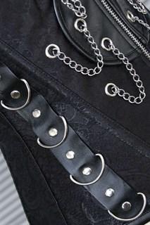 Корсет под грудь с цепочками - фото 8404