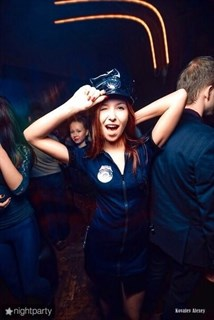 Эротический костюм полицейского - платье на молнии - фото 8972