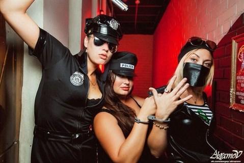 Эротический костюм полицейского - платье на молнии - фото 8974