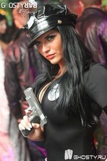 Эротический костюм полицейского - платье на молнии - фото 8979
