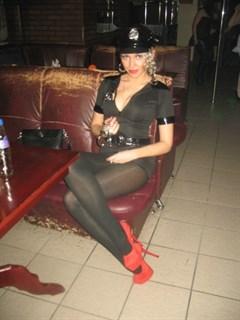Эротический костюм полицейского - платье на молнии - фото 8980