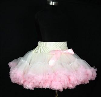 Бело-розовая юбка-пачка Pettiskirt. 32 см