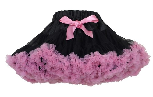 Черно-розовая юбка-пачка Pettiskirt. 32 см