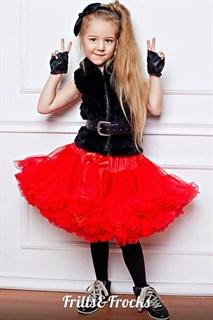Красная пышная юбка Frills&Frocks