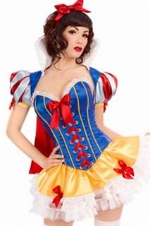 Атласное платье Белоснежки с болеро