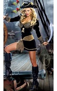 Велюровое мини платье пиратки с болеро