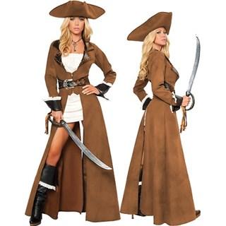 Карнавальный костюм пирата с плащом - фото 9532