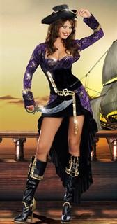 Шикарная пиратка со шлейфом - фото 9539