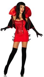 Маскарадный костюм вампира с высоким воротом и накидкой