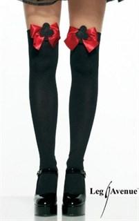 Плотные черные гетры для костюма карточной королевы