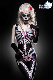 Костюм скелета с цветочками