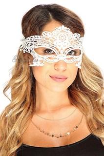Белая кружевная маска