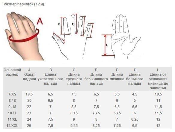 8f830e16 таблица размеров перчаток определение размера перчаток. таблица